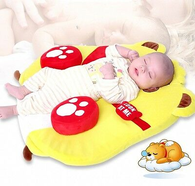 Cartoon Bear Baby Sleep Bed Soft Pillow 0-1 Years Old Anti-rollover Sleeping Pad