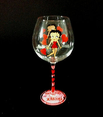 Betty Boop Long Stem Wine Goblet Beverage Glass 24 Ounce