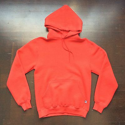 Vintage Russell Athletic Red Hoodie Mens Small Unisex Fits Mens XS And Women S/M