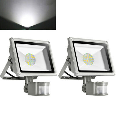 30W LED Floodlight PIR Motion Activated Outdoor Garden Security Light Lamp IP65