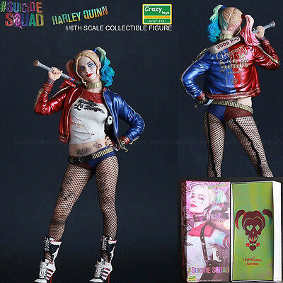 Crazy Toys DC Suicide Squad Harley Quinn 1/6 Scale Statue 30cm Action Figure Toy