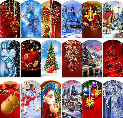 Wraps Weihnachten Fingernagel Full coverTattoo Sticker Decal Folie Abziehbilder