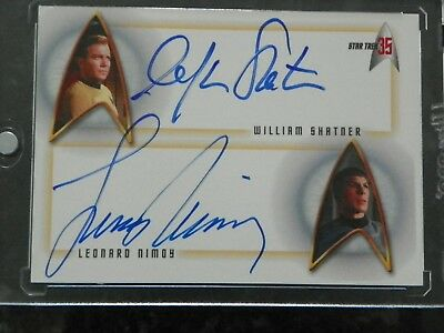 Star Trek 35 Anniversay William Shatner & Leonard Nimoy Dual Autograph