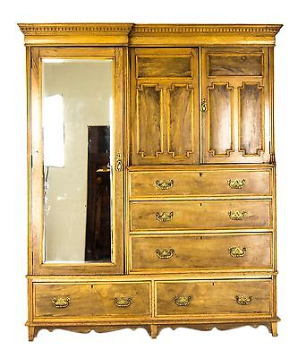 Antique Armoire, Vintage Wardrobe, Victorian, Ash, Scotland 1880, B718