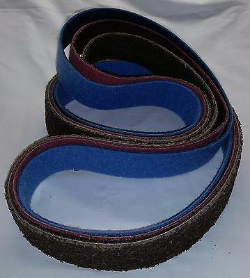 """2""""x 72"""" Sanding Belt Variety Pack Surface Conditioning You Pick (3pcs)"""