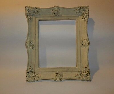 Vintage Egg-Shell White Victorian Wooden Picture Frame 8 X 10 in. - Very Ornate