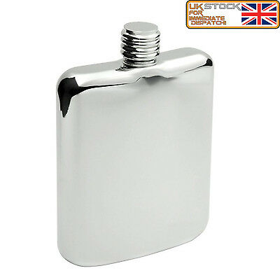 Amazing New Style 6oz Stainless Steel Hip Flask with Screw Lid 6oz Come In a Box