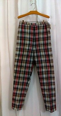 Vintage 1950s 1960s Madras Trousers Miss Jeanies By Blue Bell (wrangler) Small