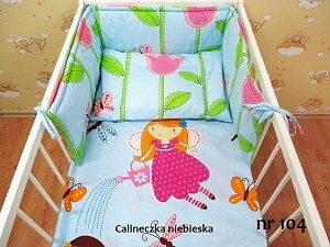 Baby Bedding Set 120x90cm, 2psc, BLUE THUMBNAIL, NEW! 100%cotton, from Poland,