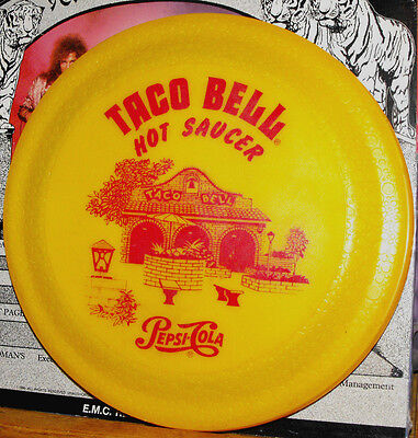 Taco Bell Hot Saucer Pepsi-Cola Flying Disc Frisbee 1970's Whirley USA Vintage