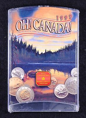 1999 Oh! Canada! Uncirculated RCM Coin Set Unopened in Original Cellophane