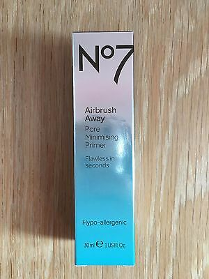 No7 Airbrush Away Pore Minimising Primer (30ml) Brand New In Box RRP £16.50!!