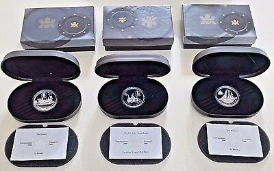 Hologram Cameo Canada $20 Transportation Series Silver Proof set Highly sought