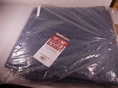 MOVING BLANKET NEW New in Pkg 72 x 80 Double Stitch Free Ship Haulmaster Blanket