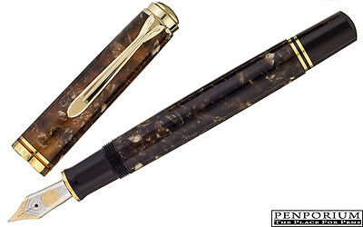 SOUVERAN M800 RENAISSANCE BROWN SPECIAL EDITION FOUNTAIN PEN - Fine