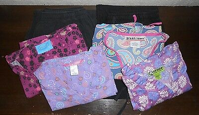 Mixed Lot Women's Scrubs! 4 Shirts & 2 Pairs Pants - Nurses - Medical