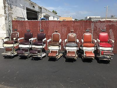 7 Antique Koken Barber Chair $2500 EACH.