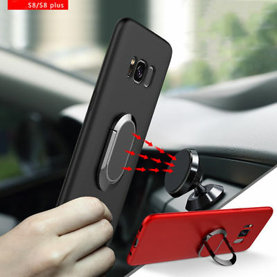 Luxury Magnetic Holder Stand Soft TPU Back Cover Case For Samsung S8 Plus Note 8