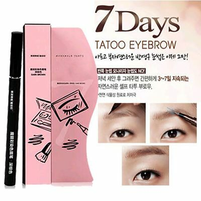Charm Waterproof Brown Eye Brow Eyebrow Tattoo Pen Liner Long Lasting - 7 Days