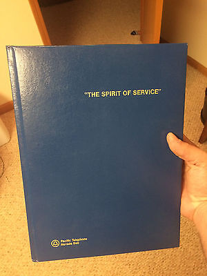 Leather Bound The Spirit Of Service Pacific Telephone Nevada Bell Book - Look
