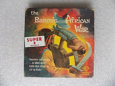The Baron's African War Vintage Super 8mm NAZI Movie Republic HA-2 B&W