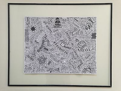 "20""x16"" Punk Bands Artwork: Arctic Monkeys, Metallica, Green Day..."