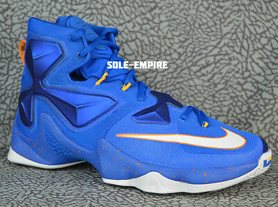 fddc1d303f5 Nike Lebron XIII 807219-418 Soar Blue White Laser Total Orange HWC CAVS  JAMES 13