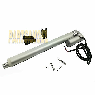 """Linear Actuator 12"""" Stroke 225lb Max Lift DC 12v 12mm with Mounting Bracket"""