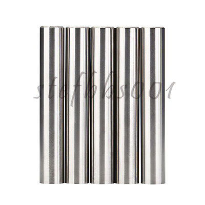 5Pcs 12mm X 75mm Tungsten Carbide Rod Round With Chamfer YK25A for End Mills etc