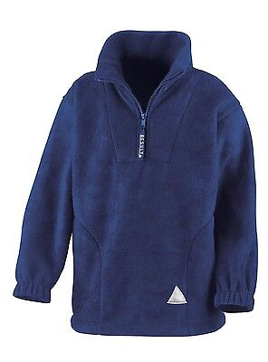 (10-12, Royal) - Result Kids/Youths Zip Neck Active Fleece. Shipping is Free