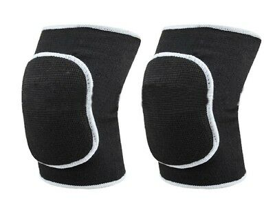 (Black) - TININNA Unisex Breathable Antislip Dance Volleyball Kneepads Knee Supp