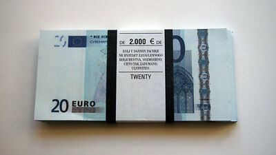20 Euro 80 PCS Paper Money FOR GAME