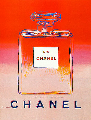 Chanel No 5 by Andy Warhol A2+ High Quality Canvas Art Print
