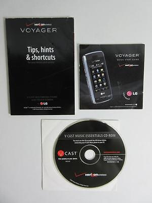 LG VOYAGER V CAST Multimedia Phone Touch Screen Music Essentials Disk+Info Guide