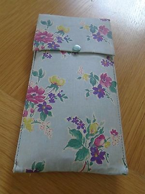 Pair Of Vintage Folding Travel Clothes Hangers In Floral Case