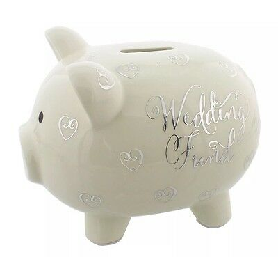 Wedding Fund Piggy Bank Money Bank Box Savings Pot Engagement Present Gift LARGE
