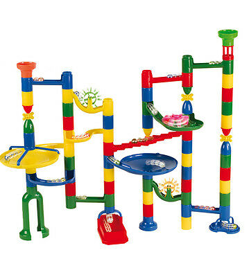 Marbulous Marble Run 80 Piece Set High Quality With Glass Marbles. FREE POST NEW