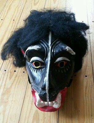 """RARE Vintage mid-1900's African IGBO LION Tribal 20"""" MASK...from museum storage"""