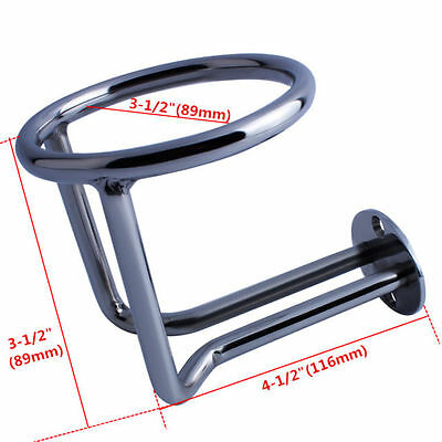 Boat Stainless Steel Ring Cup Drink Holder Polished for Marine Yacht Truck RV