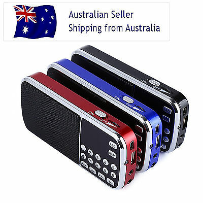 AM / FM Portable Rechargeable Radio with USB MP3 Music Player LED Torch Gifts