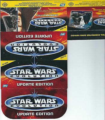 Star Wars Evolution Update - EMPTY CARD BOX - NO PACKS - SHIPPED FLAT
