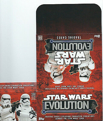 Star Wars Evolution - EMPTY CARD BOX - NO PACKS - SHIPPED FLAT - Topps 2016