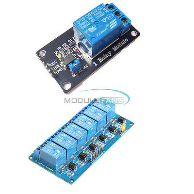 5V 1-CH 6 Channel Relay Board Module Optocoupler LED for Arduino PiC ARM AVRC