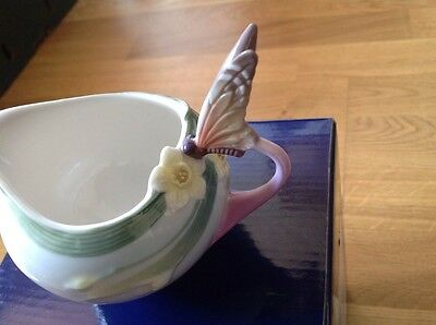 FRANZ Porcelain Butterfly Cream Jar XP1947 in Original Box.