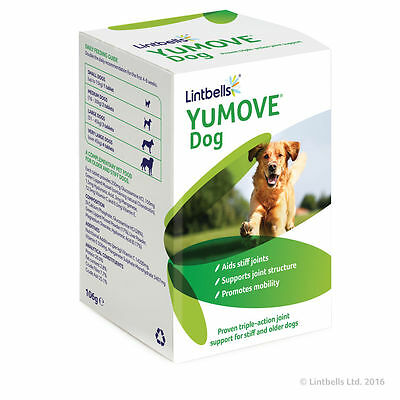 Lintbells YuMove yumove Joint Support Stiff Old Dogs Glucosamine 120 Tablets