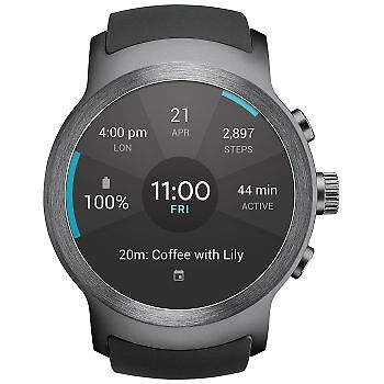 New Inbox LG Watch Sport AT&T Stainless Steel W280A Unlocked GSM All Accessories