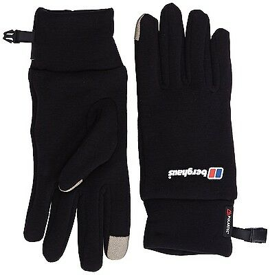 (XX-Large, Black / Black) - Berghaus Unisex Touch Screen Gloves. Shipping is Fre