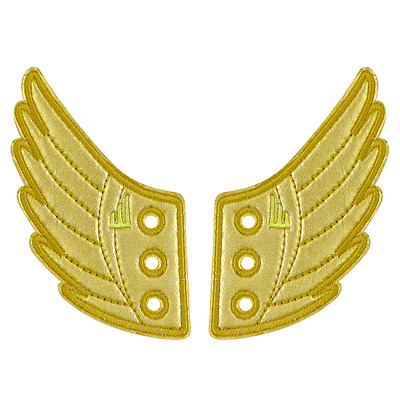 Gold Foil Wings SHWINGS Shoe Accessory Charm-Lace Onto Any Shoe Sneaker