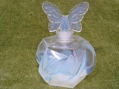 Vintage French Sabino OPALESCENT GLASS Scent Bottle BUTTERFLY TOP CLASSIC DESIGN