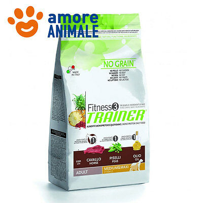 Trainer Fitness 3 Adult Medium/Maxi Cavallo e piselli 12,5 kg Alimento per cani